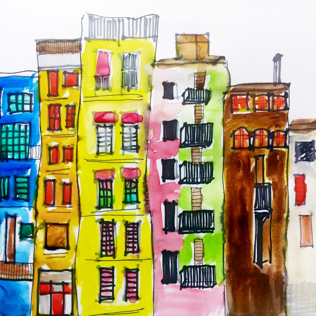 Sketching Cityscapes 3 // Colourliving