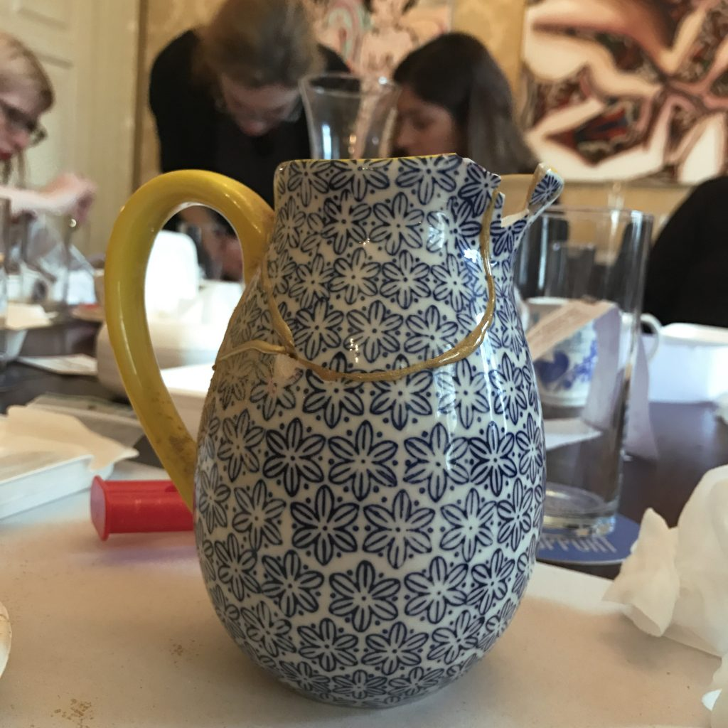 colourliving blog // kintsugi at the House of St Barnabas // pitcher